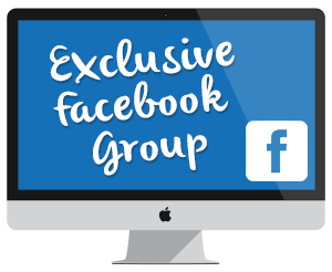 "Icon to Join the Private Facebook Group for people who registered for the Webinar ""Secrets to Setting Up Your Business to Succeed"""